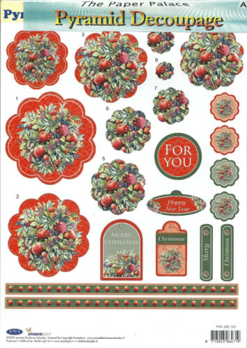 Die Cut Pyramid Decoupage 54 designs to choose from