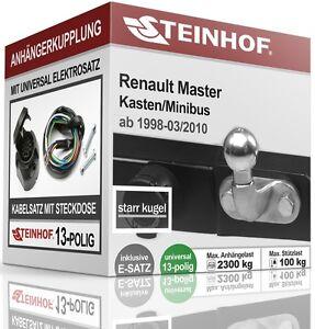 Anhaengerkupplung-starr-Fuer-Renault-MASTER-Kasten-BUS-98-10-E-SATZ-13polig