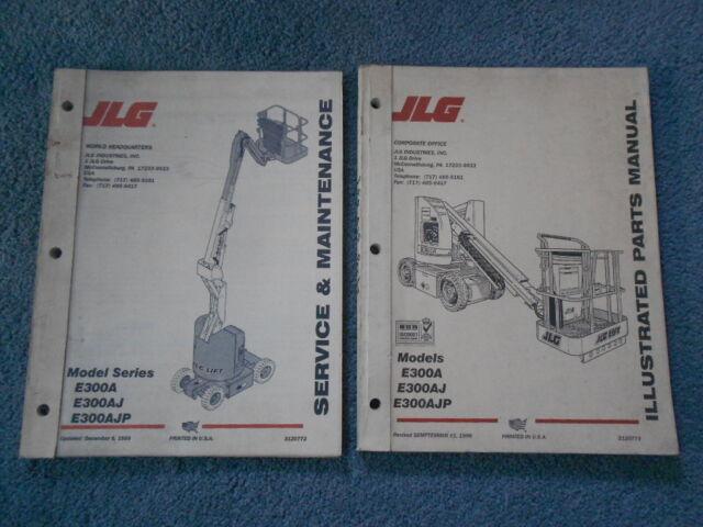 1999 JLG E300A E30AJ E300AJP SERVICE & MAINTENANCE and ILLUSTRATED PARTS  MANUAL   eBayeBay