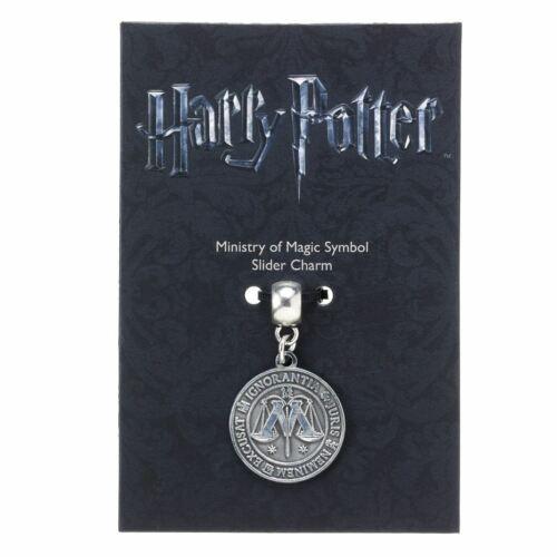 Harry Potter Silver Plated Ministry of Magic Symbol Slider Bracelet Charm