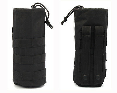 MOLLE Tactical Army Military Water Bottle Utility Dump Carrier Bag Pouch Belt BL