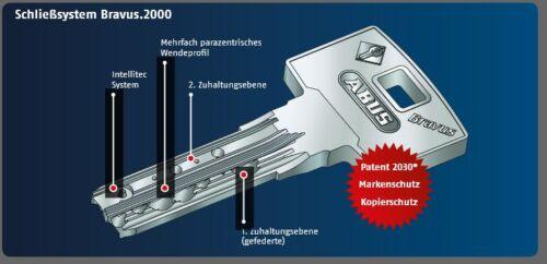 Atornilla abus bravus 2000 longitud protección contra copias 28//37 con 3 llaves