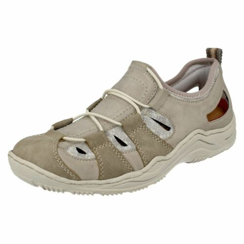 L0561 LADIES RIEKER WALKING OUTDOOR SPORTY SLIP ON CASUAL FLAT TRAINERS SHOES