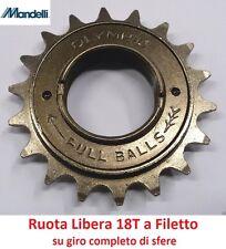 """Ruota Libera 18T/Denti """"Mandelli"""" 1 Velocità per Bici 20-24-26 Tipo Graziella"""