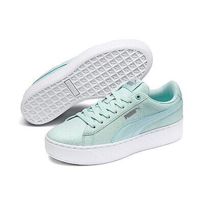 Puma Vikky Platform Glitzer Junior Mädchen Damen Schuh türkis 366856 06 | eBay