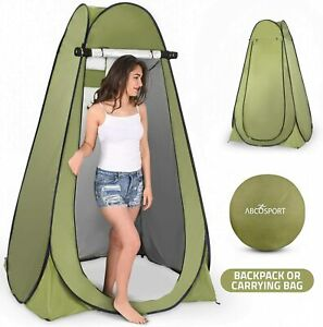 Abco Tech Instant Pop Up Privacy Tent Green & Carrying Bag, Built In Storage Bag