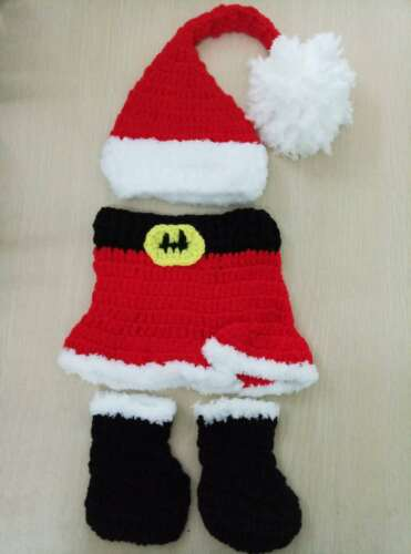 Christmas Outfits Baby Boy Girls Newborn 0-3M Knit Crochet Costume Photo Prop