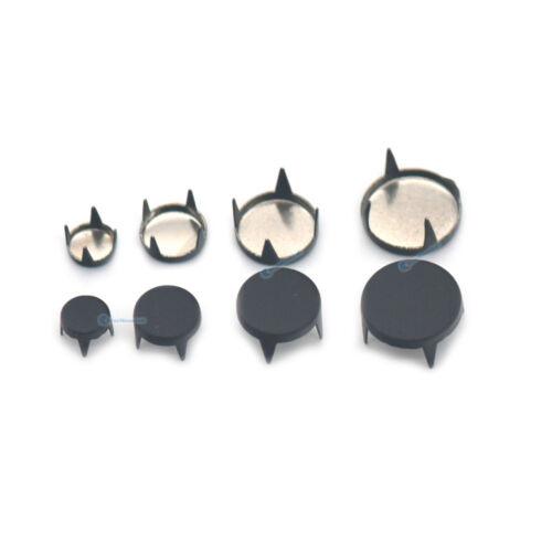 6 8 10 12mm Flat Metal Stud Spots Nailheads Spikes Punk Belt Bag Bracelet Shoes