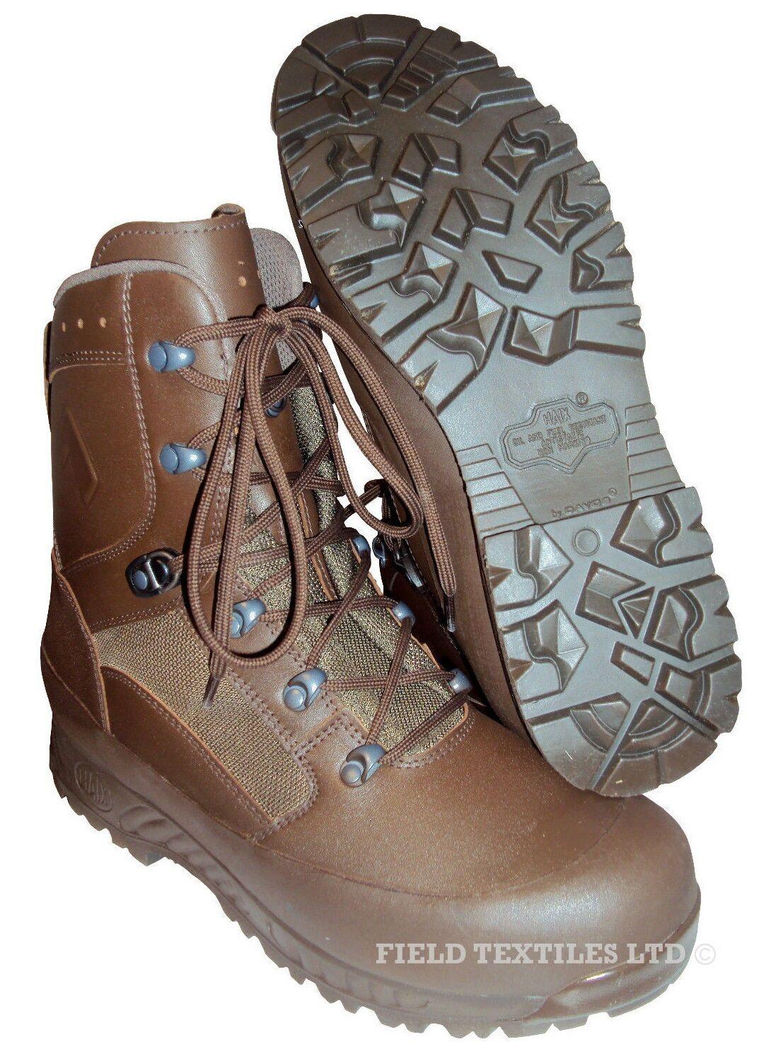Scarpe casual da uomo  British Army-Haix Combat responsabilità Stivali Marrone-Taglia 5 WIDE-NUOVO