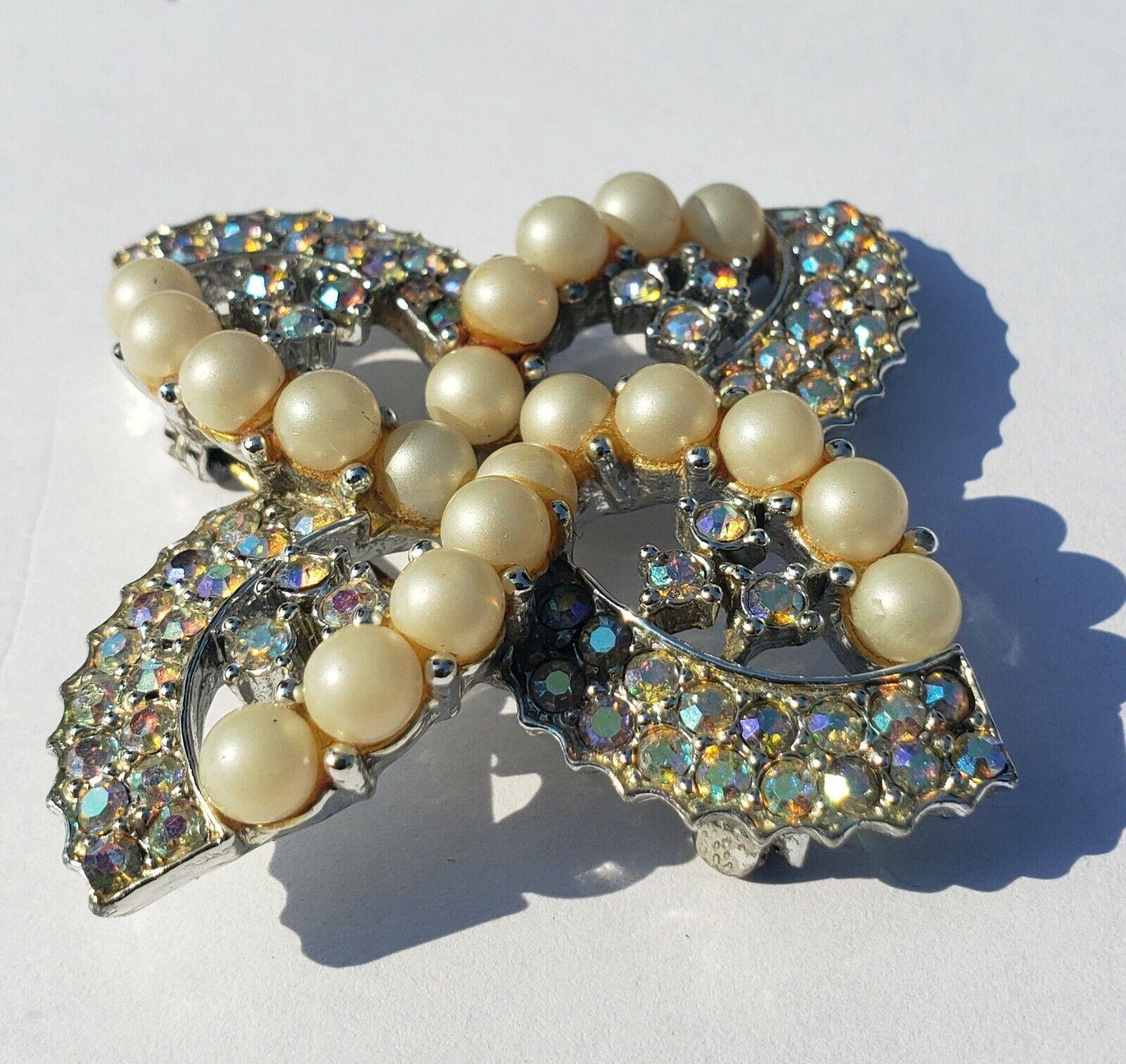 Monet Aurora Borealis Rhinestone Stud  Earrings w… - image 2