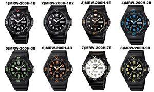 Reloj-Casio-MRW200H-Divers-Estilo-Bisel-Giratorio-eleccion-de-10-Disenos-vendedor-del-Reino-Unido