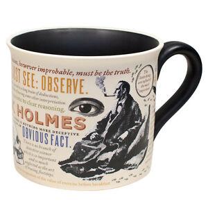 mug ceramic cup tea coffee beverage literary quotes sherlock
