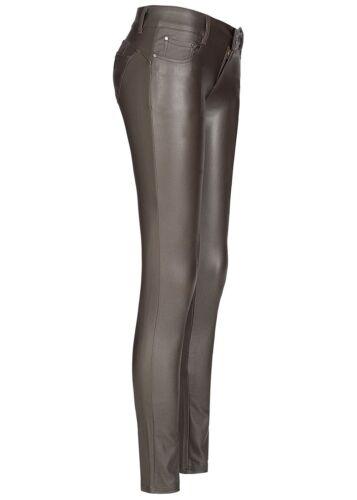 39/% OFF B18083310 Damen 77 Lifestyle Hose Skinny Jeans Glanz Optik choco braun