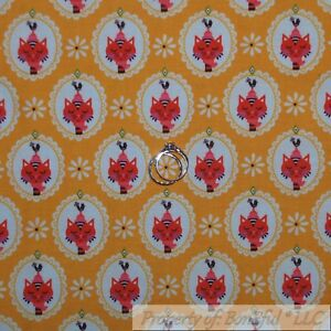 BonEful-Fabric-FQ-Cotton-Quilt-Yellow-White-Red-Kitty-Cat-Flower-Rooster-S-Retro