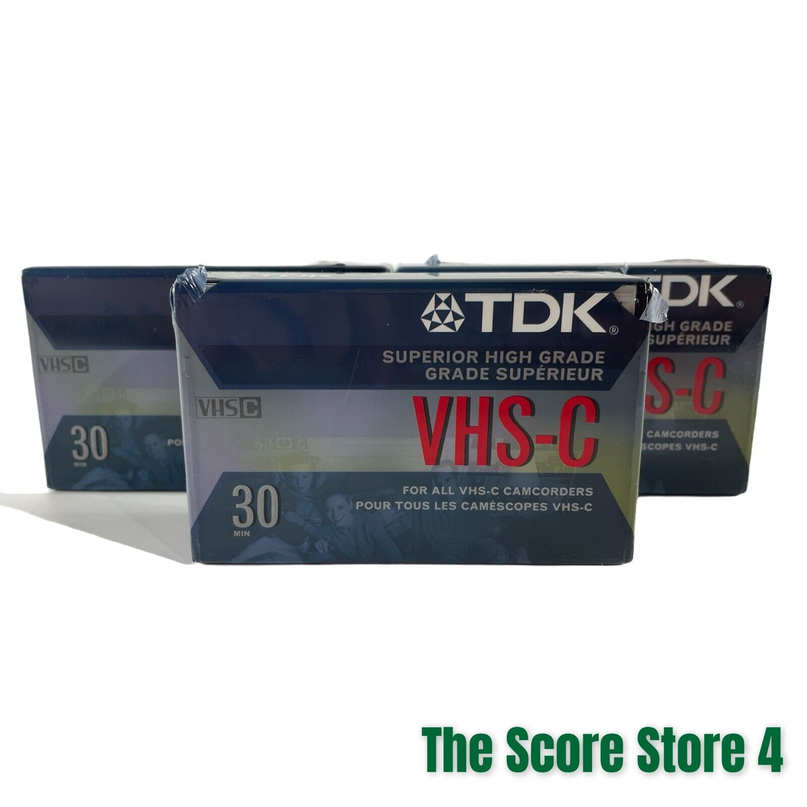 TDK VHS-C HG Ultimate 30 Minute Blank Camcorder Tapes, New & Sealed-Lot Of 3