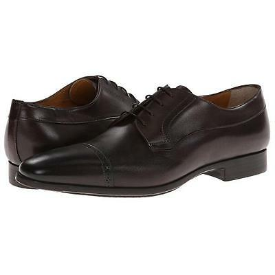"""Men/'s Leather Dress Shoes Oxfords Santoni /""""Redmond/"""" Cap Toe Derby"""