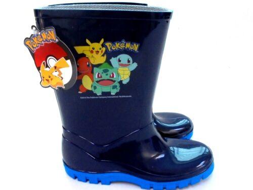 Garçons new pokemon wellies navy welly wellington bottes taille 7-1