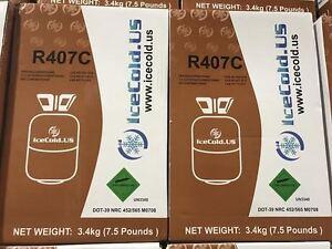 Details about R407C-Refrigerant -7 5 lb Cylinder 407 C FACTORY SEALED  HVAC/R Refrigerant