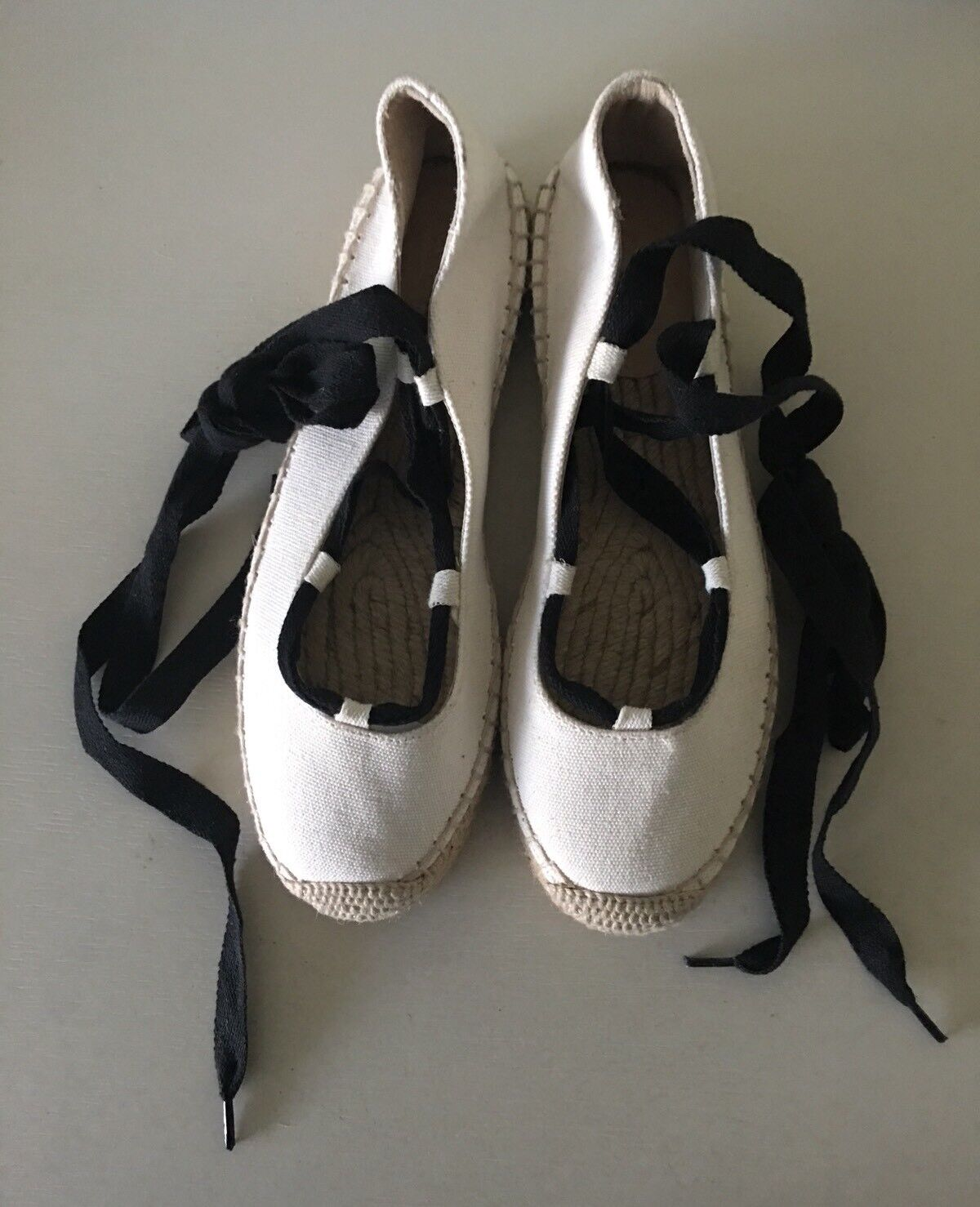 J.crew Women's Canvas Lace-up Espadrilles In Fresh Cream Size 6 6 6 Style G1345 b9cf78