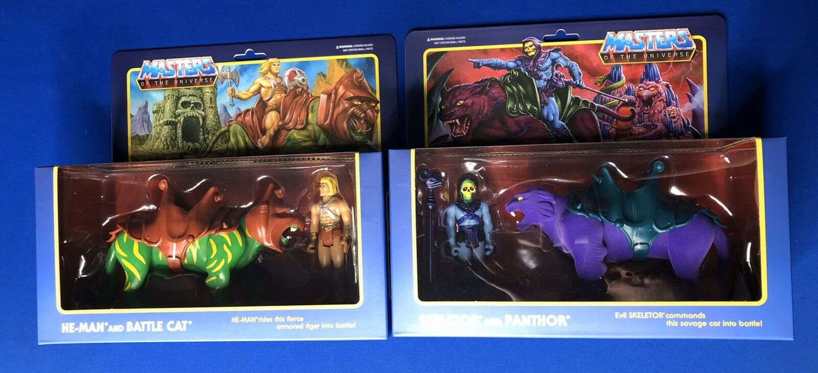 Super7 Reaction Skeletor & Panthor battle Cat  & He-man Lot  In Hand Rdy To Ship