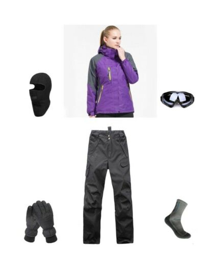 Womens Ski Snowboard Jacket Pants D2 Gloves Goggles Balaclava Socks 6 8 10 12 14