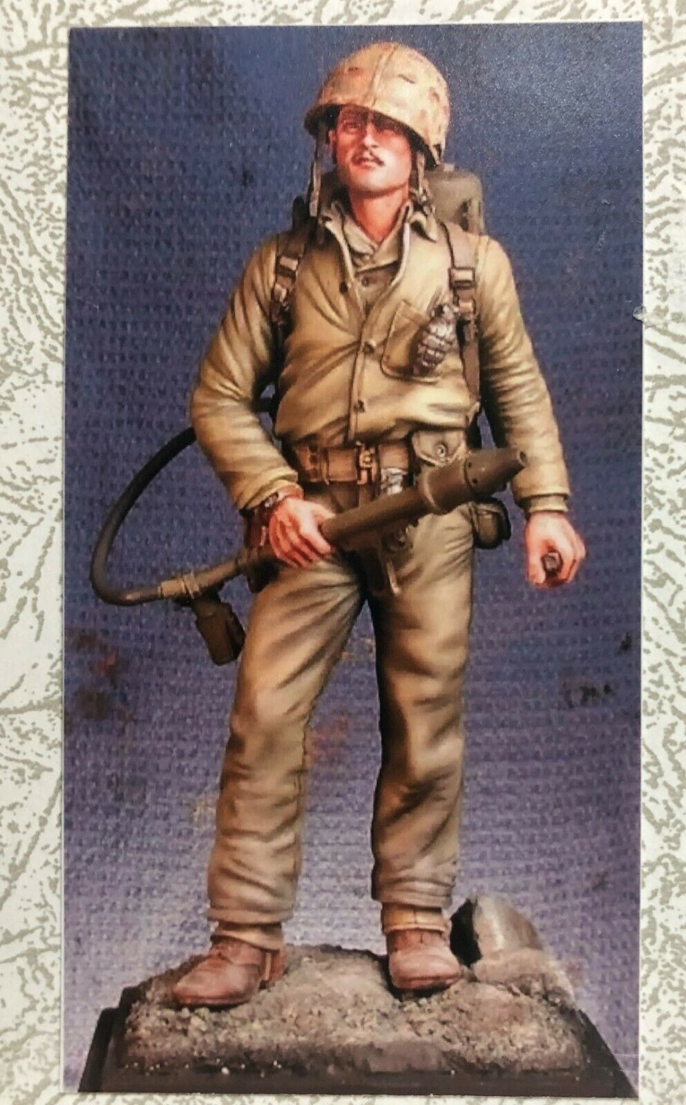 1 16 120MM RESIN Figura THE REGIMENTAL S4 USMC FLAMETHROWER IWO JIMA 1945. NEW.