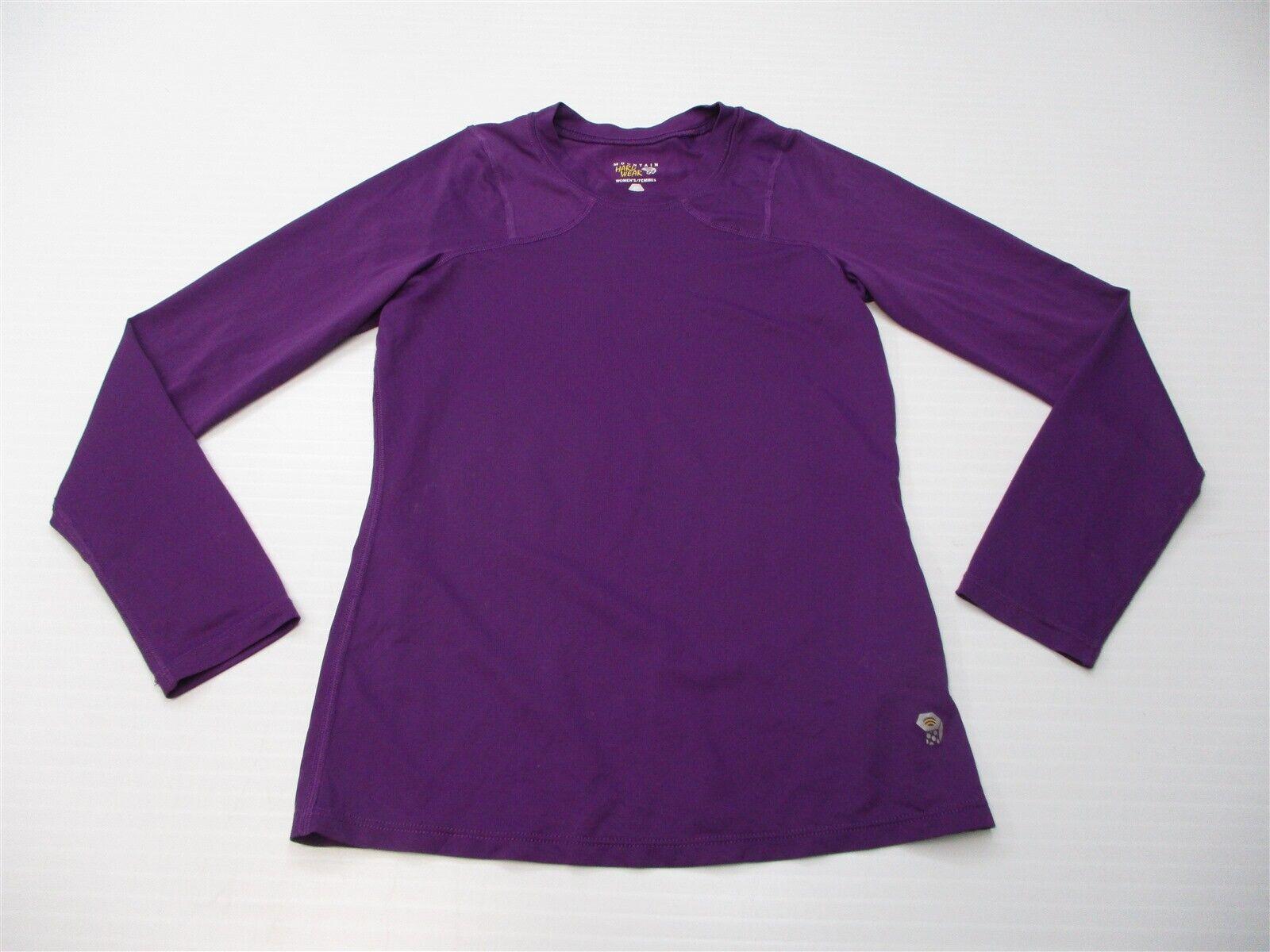 MOUNTAIN HARDWEAR Women Size XS Quick Dry Mesh Purple Fitted Long Sleeve T-Shirt