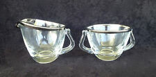 Mid Century Silver Rim Creamer & Sugar Dorothy Thorpe Style