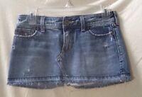 Hollister Blue Distressed Jean Denim Mini Skirt Junior's Size 0
