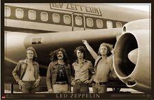 LED ZEPPELIN AIRPLANE 24x36 poster ROBERT PLANT JIMMY PAGE PAUL JONES BONHAM NEW