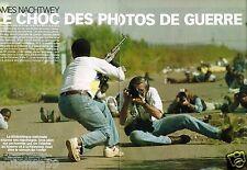 Coupure de presse 2002 (6 pages) James Nachtwey Choc Photos de guerre