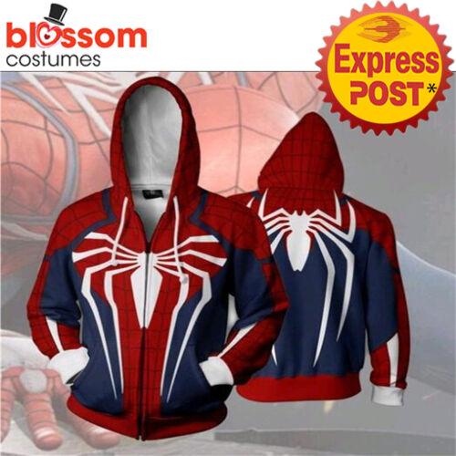 K794 Spider Man Hoodie Avengers Jacket Comic Spiderman Sweater Cosplay Costume