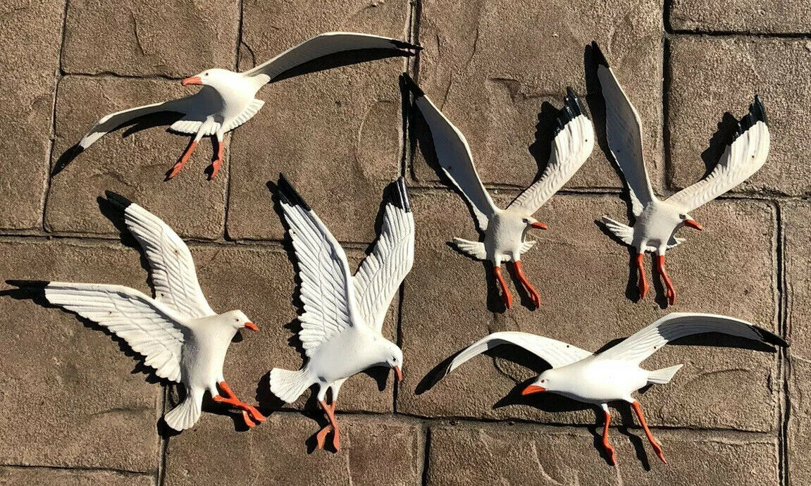 Cast Aluminum Seagull Wall Decoration Vintage MCM Bird Lot