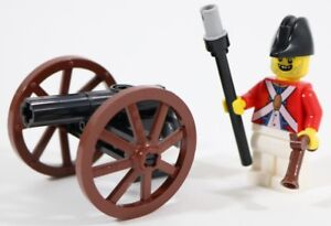 LEGO-PIRATES-CANNON-amp-IMPERIAL-RED-COAT-SOLDIER-MINIFIGURE-MADE-OF-GENUINE-LEGO