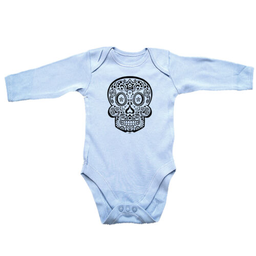 Funny Baby Infants Babygrow Romper Jumpsuit Candy Skull