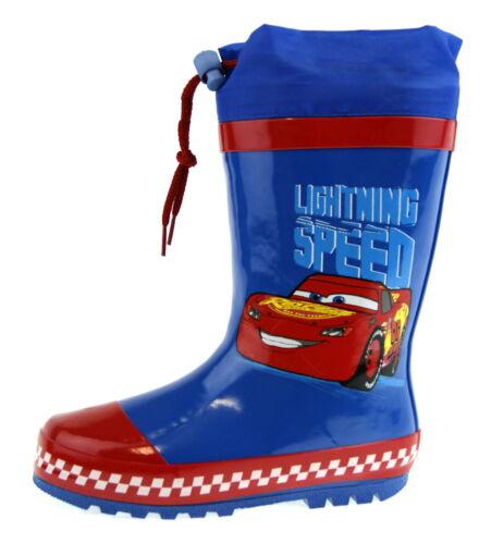 Disney Cars Tie Top Bottes Garçons Lightning McQueen Wellington Neige Pluie Bottes