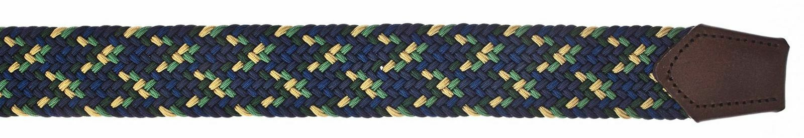 b.belt Luca Stretch Belt W100 Gürtel Accessoire Navy - Light Green Blau Grün Neu