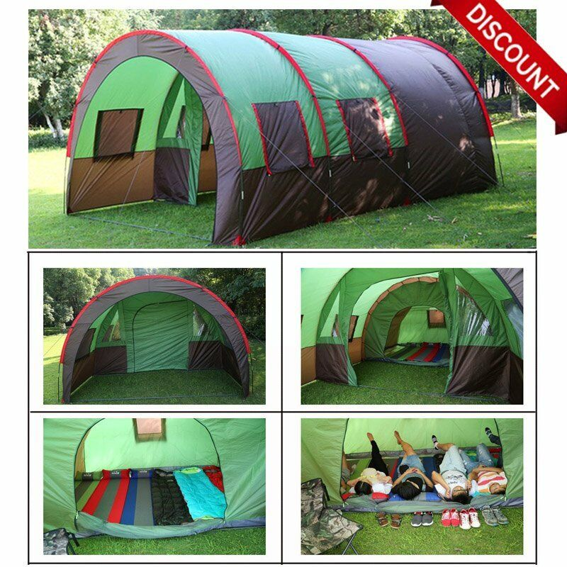 189 x122  8-10 Person Family Camping Dome Tunnel Tents Waterproof Outdoor Large