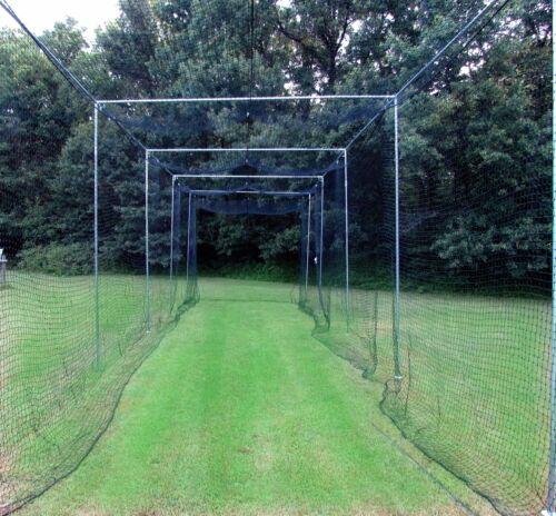 Batting Cage Net #24-42ply w// Batting Cage Frame Kit Baseball Practice Netting
