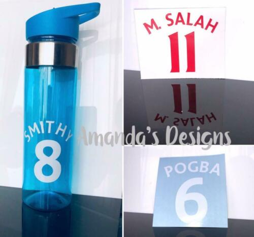 West Ham Favourite Football Player//Number Personalised Water Bottle Sticker