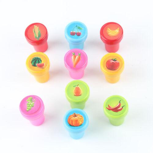 283E Cartoon Seal 10 Pcs//Set Painting Kids Stamper Toys Drawing Seal Toys Fun