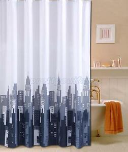 New York City Picture Design Bathroom Fabric Shower Curtain Ps863 Ebay