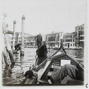 Venezia-Italia-Foto-Stereo-T2L7n3-Placca-Da-Lente-Vintage