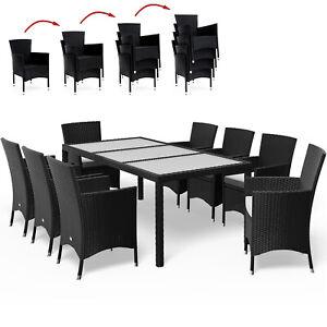 Poly Rattan Sitzgruppe Sitzgarnitur Lounge 81 Alu Essgruppe Garten