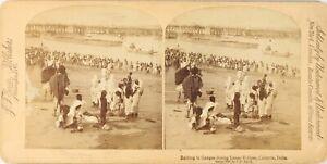 India-Calcutta-Bains-Ganges-Eclisse-Lunare-Foto-Stereo-Vintage-Albumina-PL62L3