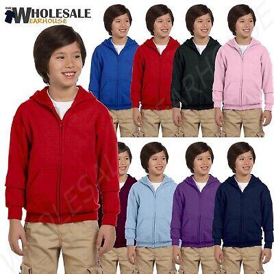Gildan Boys Heavy Blend 8 oz 50//50 Full-Zip Hood