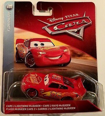 cars 3 lightning mcqueen  Disney Pixar Cars 7 Lightning Mcqueen Diecast Mattel 7:7 Scale Florida 7  2078 887967407428   eBay