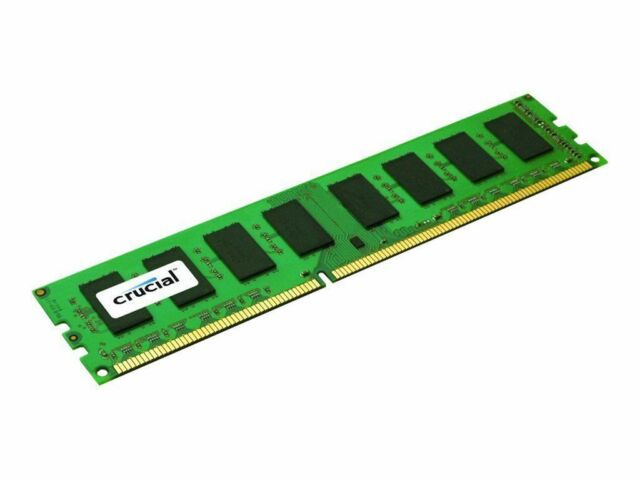 NEW! Crucial CT102472BD160B 8GB DDR3 PC3-12800 Unbuffered ECC