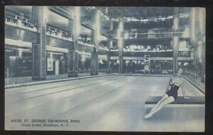 Details about POSTCARD BROOKLYN NY/NEW YORK HOTEL ST GEORGE SWIMMING POOL  INTERIOR 1930'S