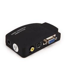 2560*1600 AV S-Video RCA Composite Video to PC Laptop VGA Converter Adapter Box